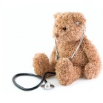 Teddy bear and stethoscope.