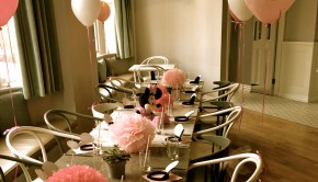 Birthday party No 11 Pimlico Road table decorations balloons