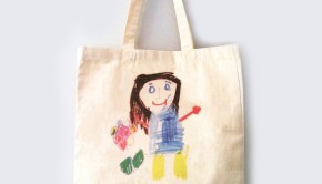 MUMMY tote bag drawing