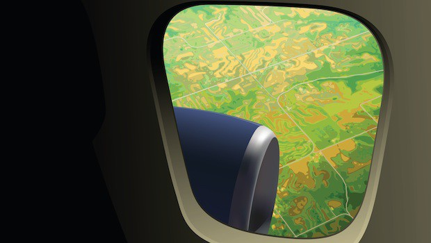 Airplane window travel