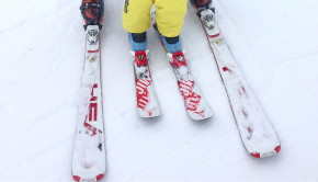 Skiing with 2-year-old