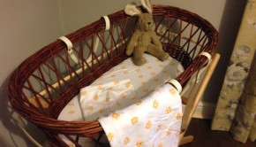 Moses Basket with Magnus and Mouse Bedding Senger Tierpuppen Cuddly Rabbit