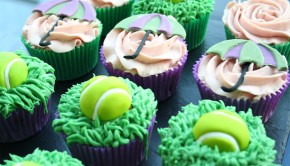 Wimbledon cupcake decorating