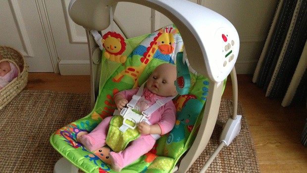 Review: Fisher-Price Rainforest Friends Take Along Swing