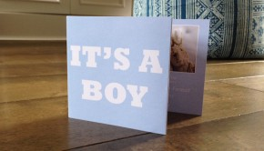 Birth announcement cards boy Coco Cards