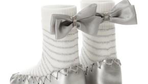 Ace and Me Silver Ballerina Slipper Socks