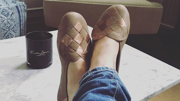 A Andreassen Slippers Elskling Rose Gold