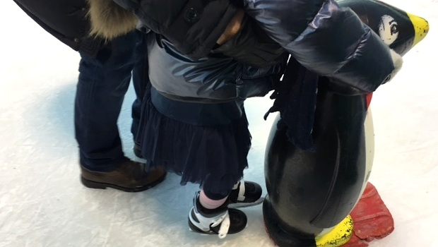 Ice Skating Preschooler Penguin