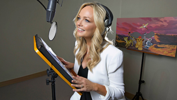 Actress and presenter Emma Bunton records her first ever voiceover for a guest appearance as character 'Muhimu' in Disney Junior's The Lion Guard. Available to watch on weekdays at 5.30pm on Disney Junior. Emma's episode will air in October