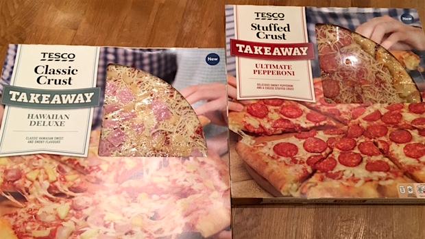 Tesco pizzas