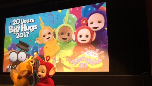 the teletubbies sing you are the mircle and o canada - YouTube