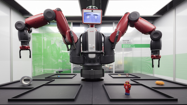 Baxter, a working robot ∏ Plastiques Photography, courtesy of the Science Museum